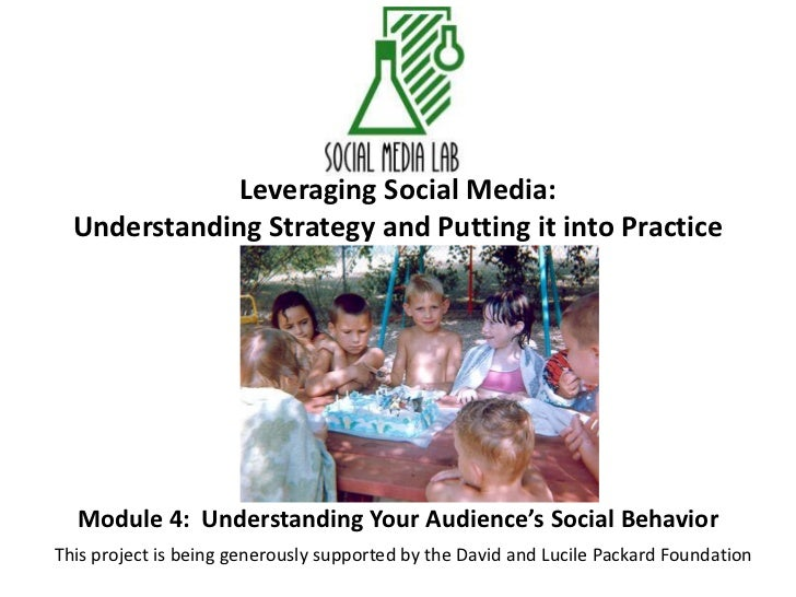 Leveraging Social Media:Understanding Strategy and Putting it into Practice<br />Module 4:  Understanding Your Audience's ...