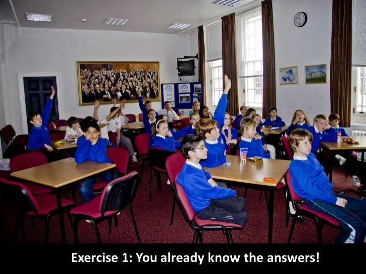 Exercise 1: You already know the answers! <br />