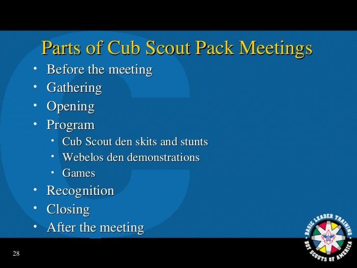 Pack committee full - webb