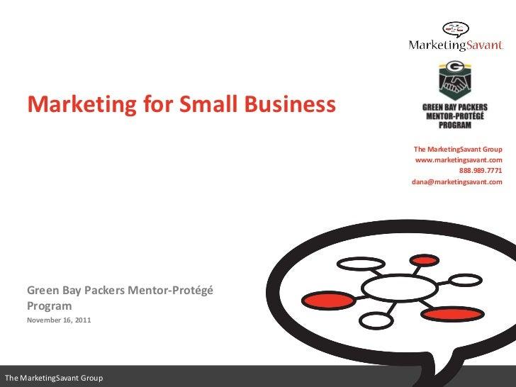 Marketing for Small Business                                         The MarketingSavant Group                            ...