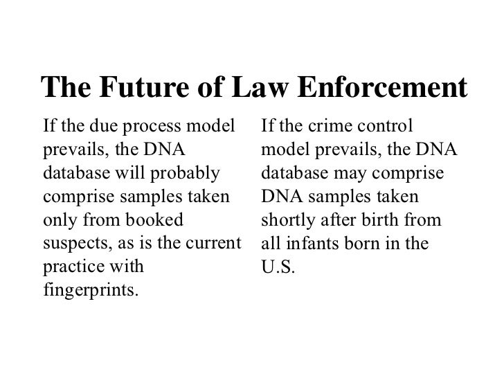 crime control versus due process Safety – crime control model or due process model as the pendulum transitions from the crime control model to the due process model in answer to the demands.