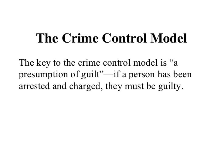 The Wedding Cake Model Theory of Criminal Justice