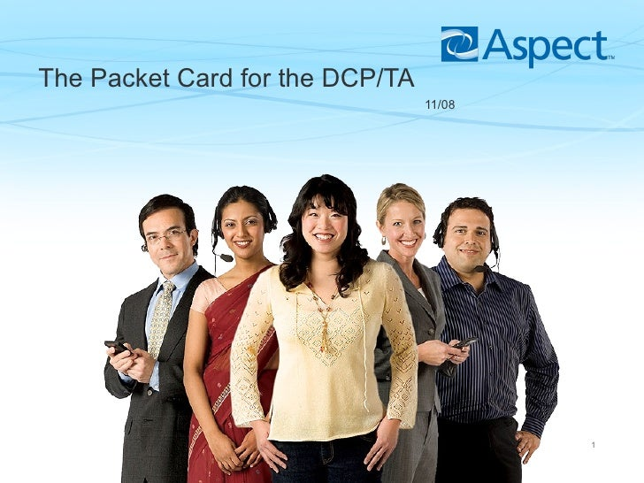 The Packet Card for the DCP/TA   11/08