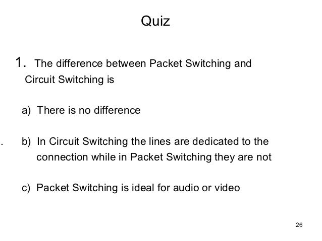 difference between circuit switching and packet switching pdf