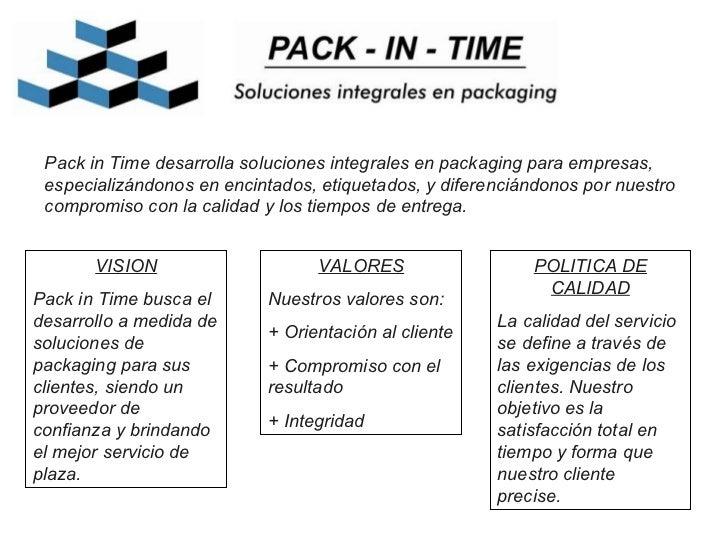 Pack in Time desarrolla soluciones integrales en packaging para empresas, especializándonos en encintados, etiquetados, y ...