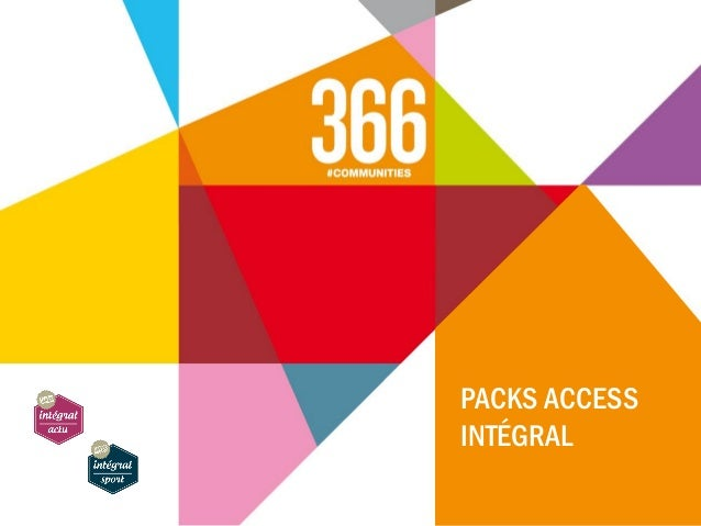 PACKS ACCESS INTÉGRAL