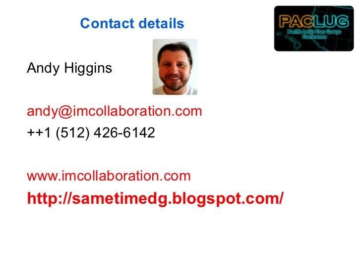 Paclug Sametime Presentation