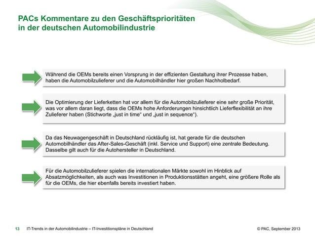 PACs Kommentare zu den Geschäftsprioritäten in der deutschen Automobilindustrie  Während die OEMs bereits einen Vorsprung ...