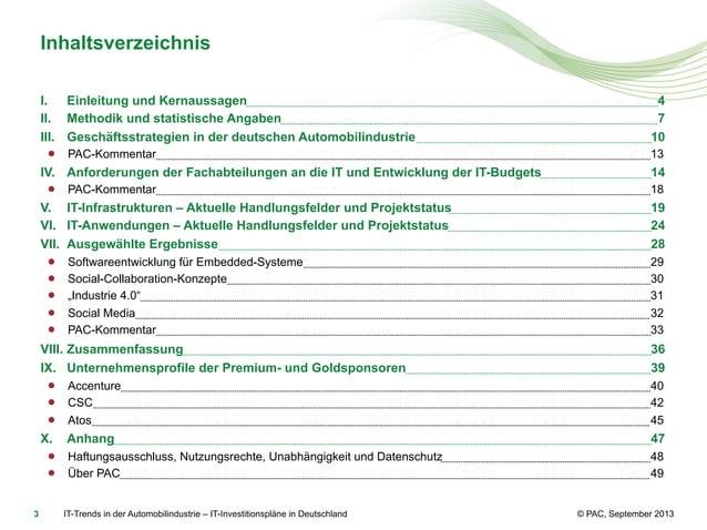 Inhaltsverzeichnis I. Einleitung und Kernaussagen II. Methodik und statistische Angaben III. Geschäftsstrategien in der...