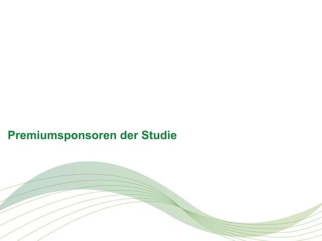 Premiumsponsoren der Studie  © PAC, PAC © September 2013