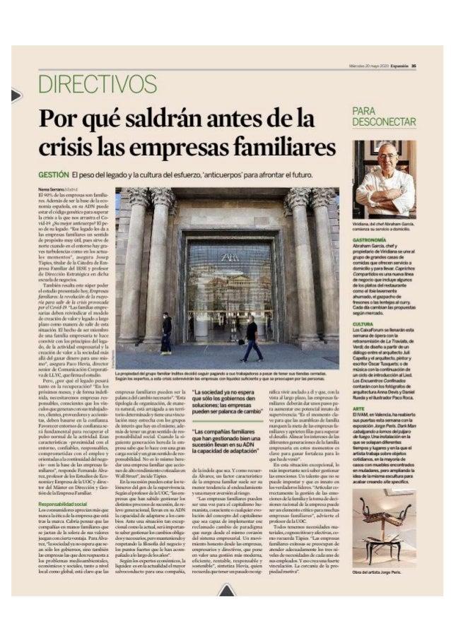 """Paco Hevia: """"Por qué saldrán antes de la crisis las empresas familiares"""""""