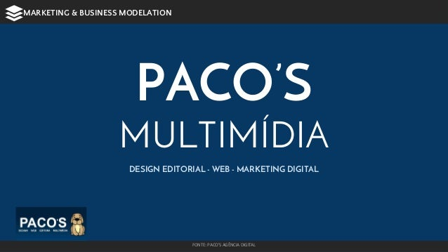 PACO'S MULTIMÍDIA DESIGN EDITORIAL - WEB - MARKETING DIGITAL FONTE: PACO'S AGÊNCIA DIGITAL MARKETING & BUSINESS MODELATION