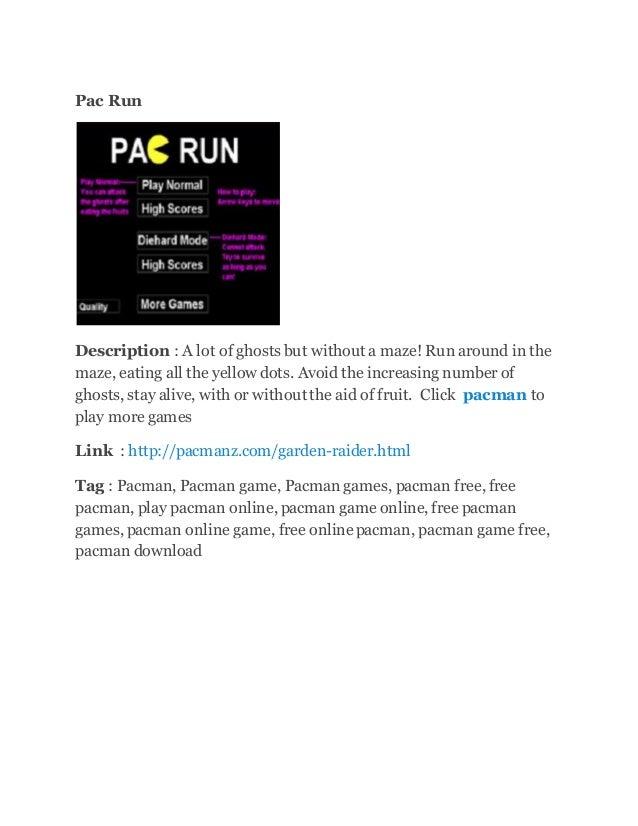 Pac run.