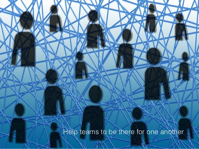 Help teams to be there for one another 29
