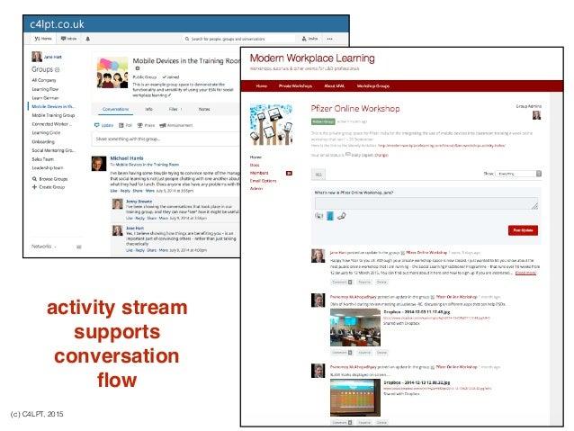 (c) C4LPT, 2015 activity stream supports conversation flow