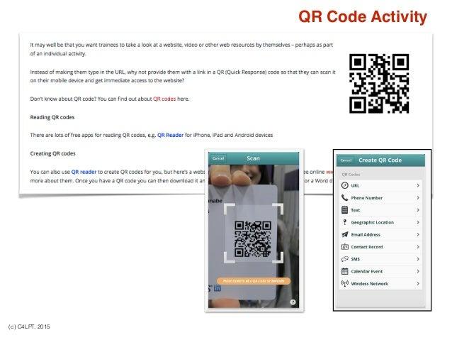 (c) C4LPT, 2015 QR Code Activity