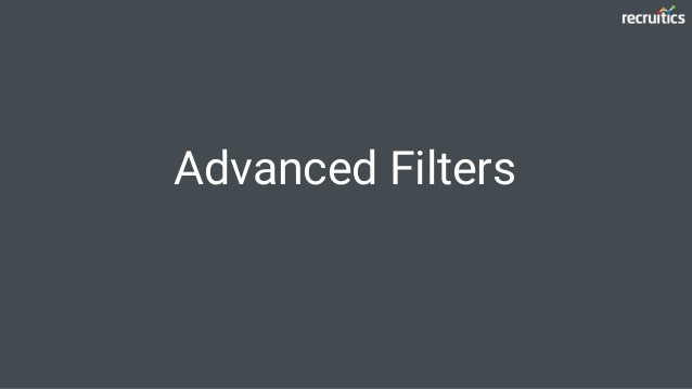 Advanced Filters