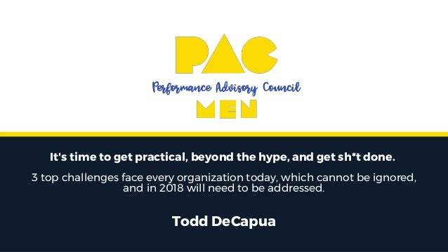 It's time to get practical, beyond the hype, and get sh*t done. 3 top challenges face every organization today, which cann...