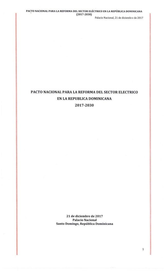 Pacto nacional para la reforma del sector electrico doc textual e integro 21 12 2017