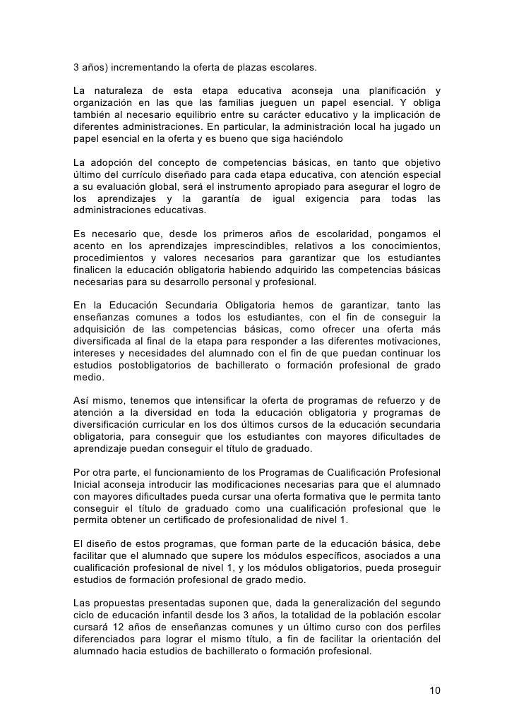 Pacto Por La Educacin Documento Definitivo