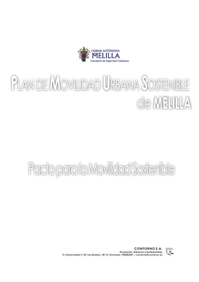 PLANDEMOVILIDADURBANASOSTENIBLE de MELILLA PactoparalaMovilidadSostenible