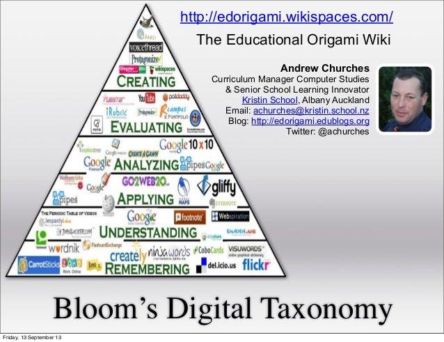 Bloom's Digital Taxonomy Andrew Churches Curriculum Manager Computer Studies & Senior School Learning Innovator Kristin Sc...