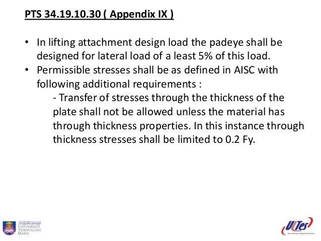 Padeye design calculation Slide 2