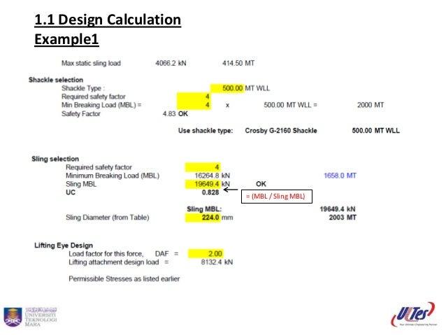 Padeye design calculation Slide 3