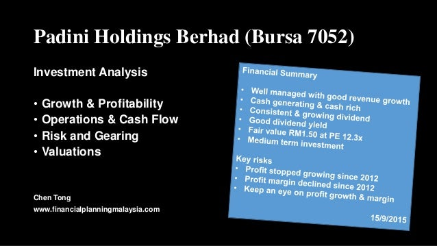 Padini Holdings Berhad (Bursa 7052) Investment Analysis • Growth & Profitability • Operations & Cash Flow • Risk and Geari...