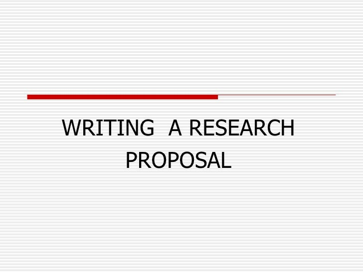Writing An Academic Research Proposal How Do You Write A
