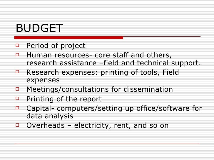 how to prepare a budget for a research proposal