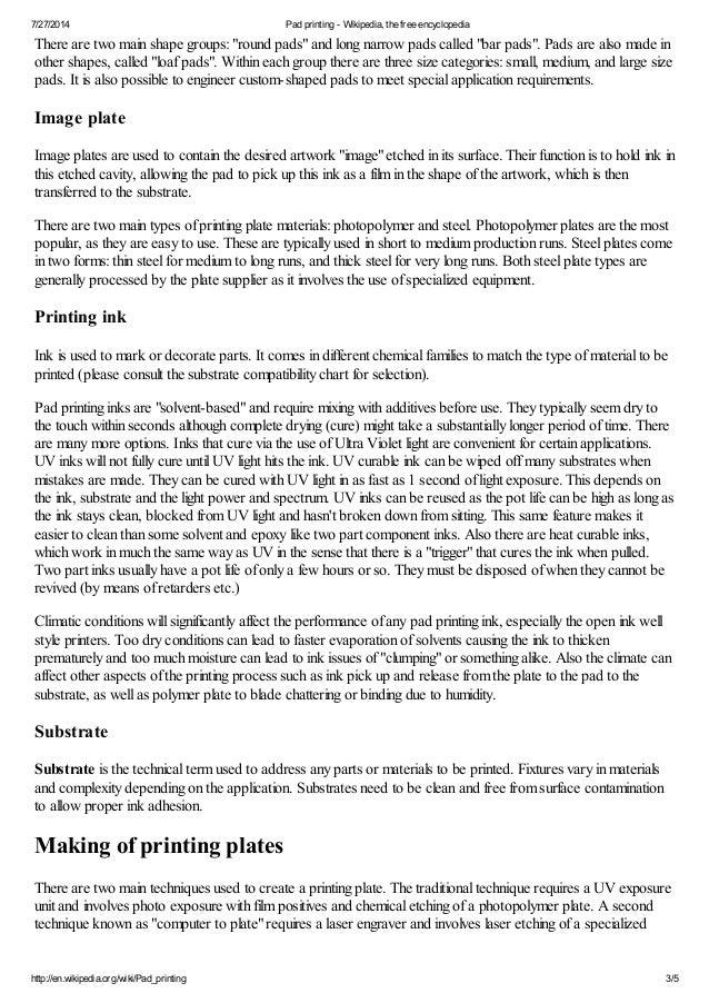 Pad printing wikipedia, the free encyclopedia