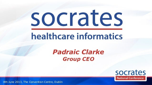 8th June 2013, The Convention Centre, DublinPadraic ClarkeGroup CEO