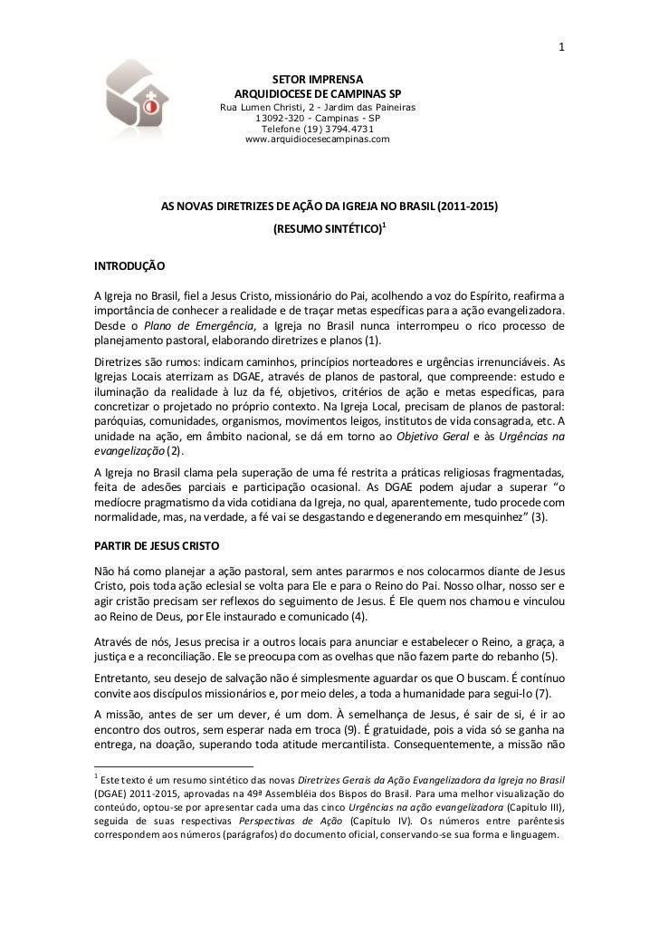 1                                     SETOR IMPRENSA                               ARQUIDIOCESE DE CAMPINAS SP            ...