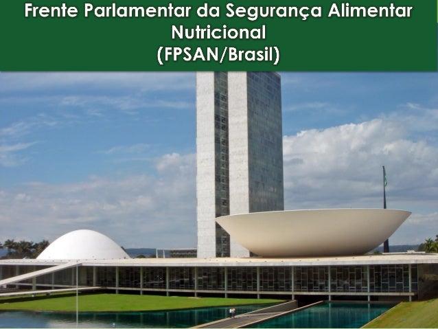 Histórico da FPSAN/Brasil Criação: abril de 2007 Assinaturas: 250 parlamentares Apoio: entidades, personalidades, socie...