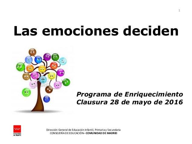 Dirección General de Educación Infantil, Primaria y Secundaria CONSEJERÍA DE EDUCACIÓN– COMUNIDAD DE MADRID 1 Programa de ...