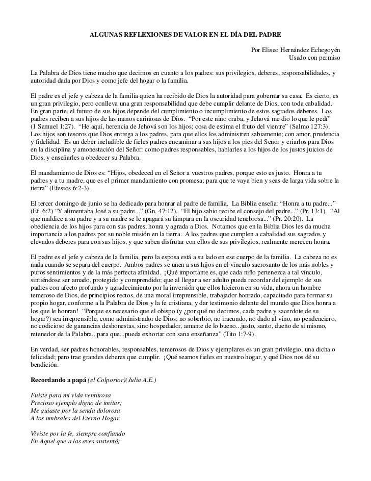 ALGUNAS REFLEXIONES DE VALOR EN EL DÍA DEL PADRE                                                                          ...