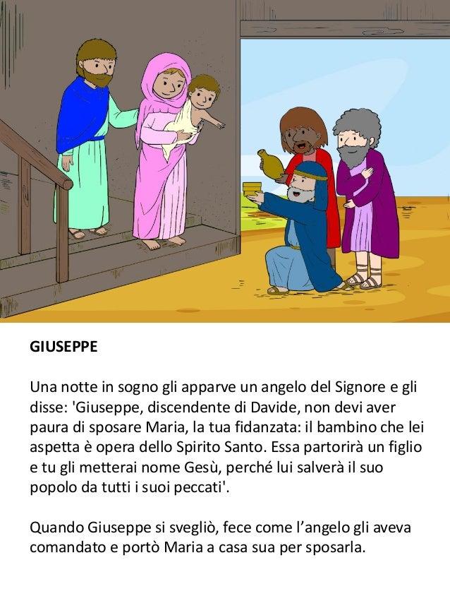 GIUSEPPE Una notte in sogno gli apparve un angelo del Signore e gli disse: 'Giuseppe, discendente di Davide, non devi aver...