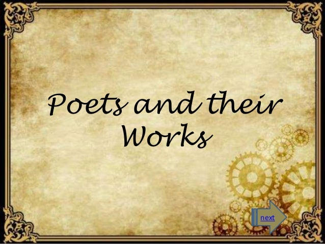 Poets and their  Works  next