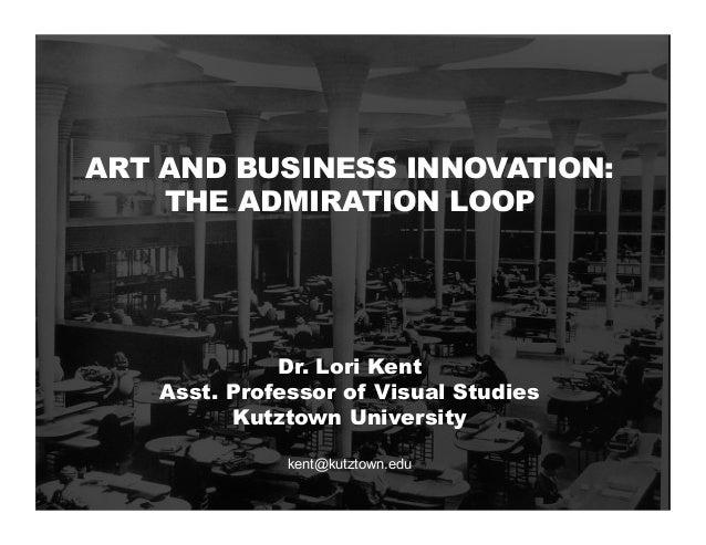 ART AND BUSINESS INNOVATION: THE ADMIRATION LOOP Dr. Lori Kent Asst. Professor of Visual Studies Kutztown University kent@...