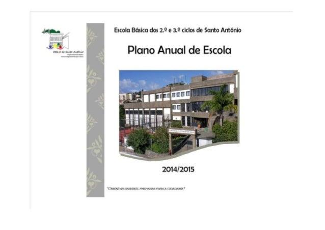 Plano Anual de Escola 2014/2015 Página 2