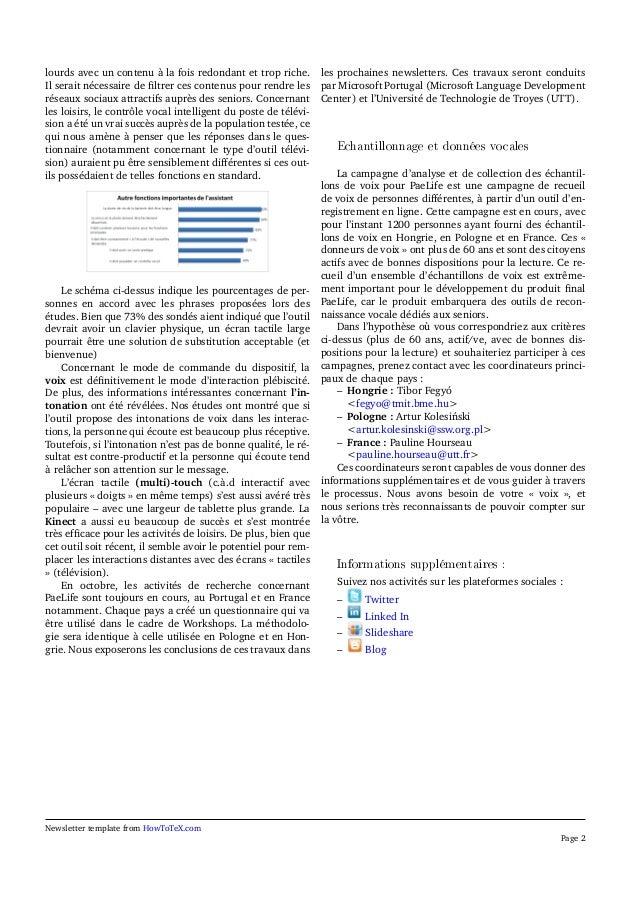 Paelife newsletter 2 (French) Slide 2