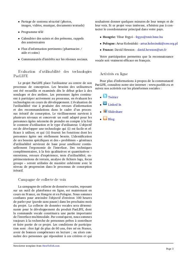 Bulletin PaeLife 3 (Français) Slide 3