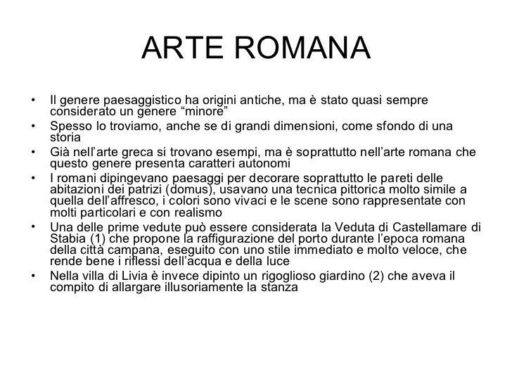 Arte greca e arte Romana — appunti di