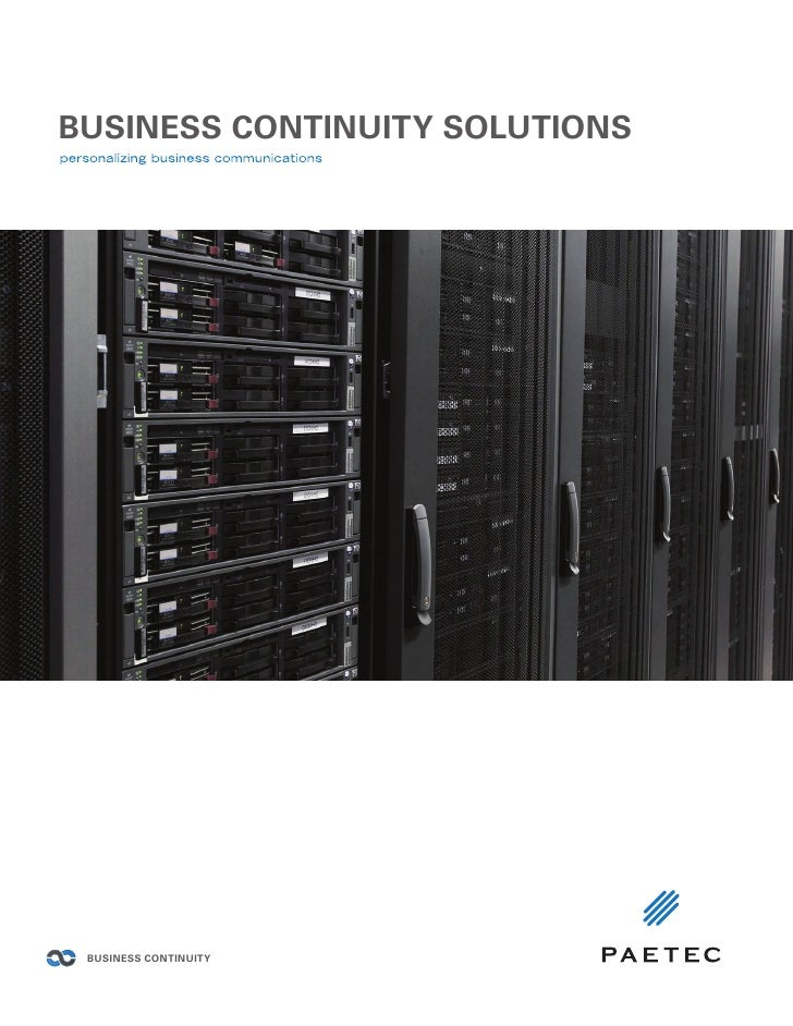 Paetec Business Continuity