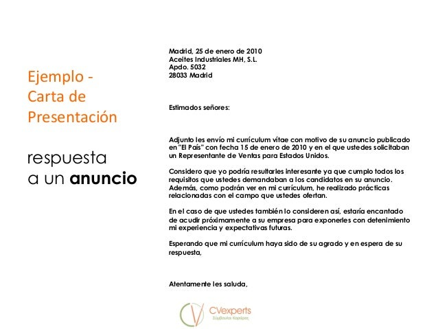 Currículum Carta De Presentación Y Entrevista De Trabajo