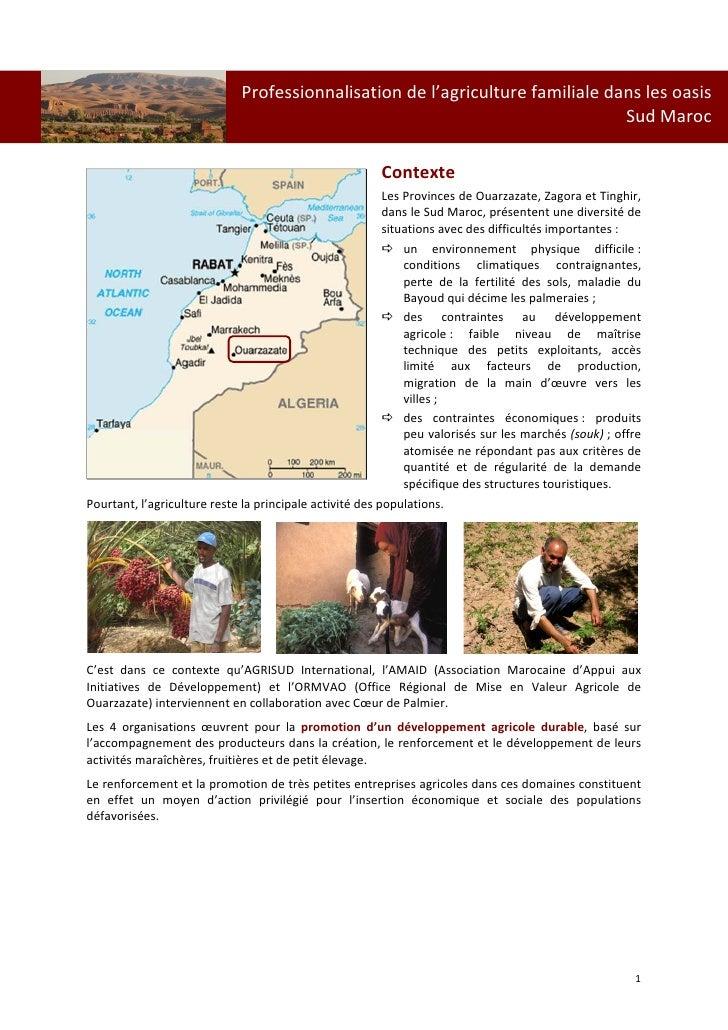 Professionnalisationdel'agriculturefamilialedanslesoasis                          ...