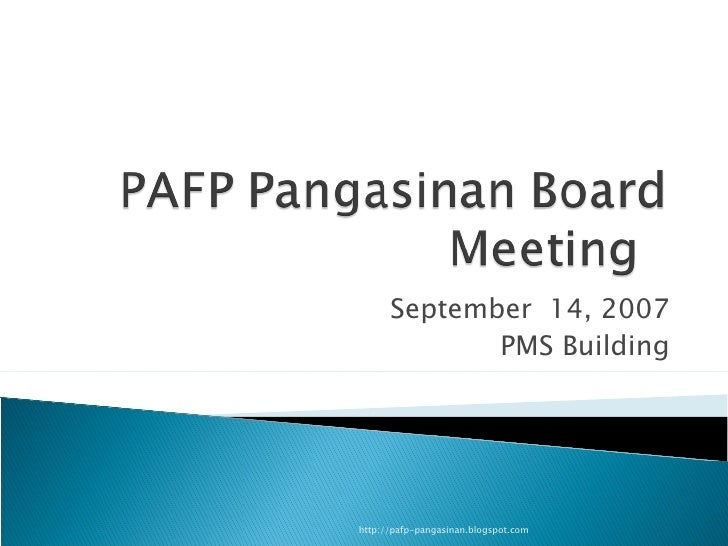 September  14, 2007 PMS Building http://pafp-pangasinan.blogspot.com