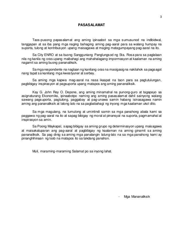 paggawa ng thesis sa filipino kabanata 3