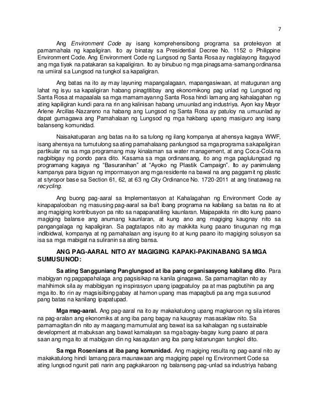 panimula tagalog na thesis